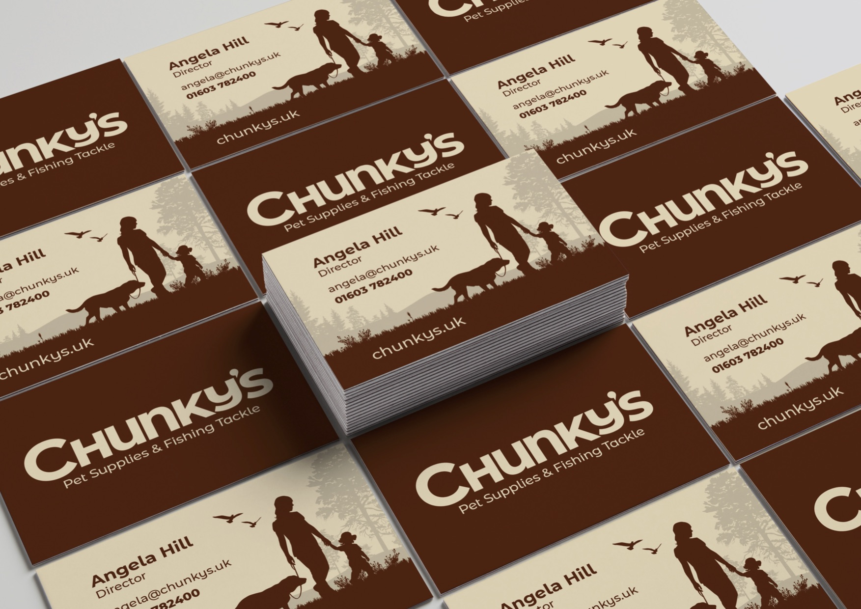 CHUNKY'S BUSINESS CARDS